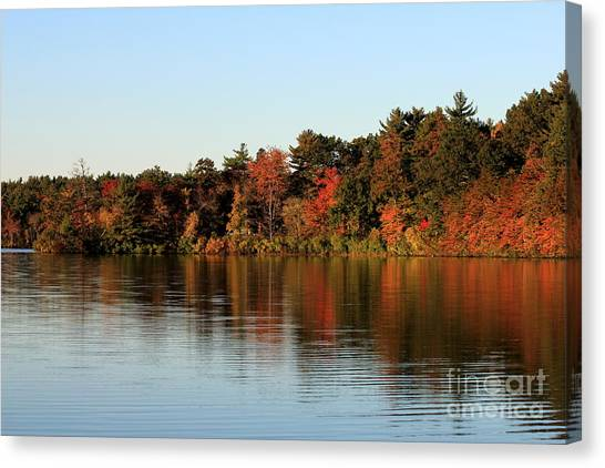 Hart Pond Golden Hour Canvas Print
