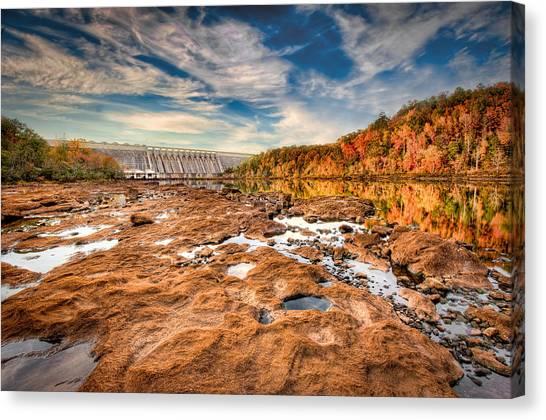 Hartwell Dam Canvas Print