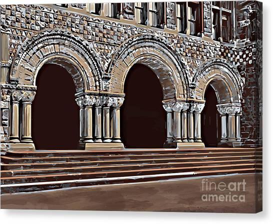 Harvard  Entrance To Law School   C1900 Canvas Print