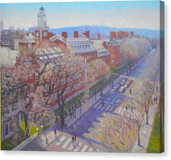 Boston College Canvas Print - Harvard Square by Dianne Panarelli Miller