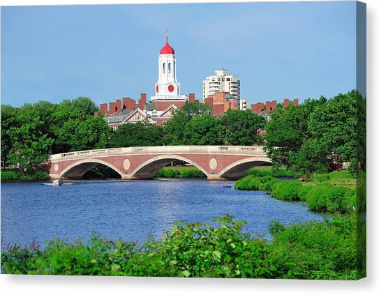 Patriot League Canvas Print - Harvard University Campus In Boston by Songquan Deng