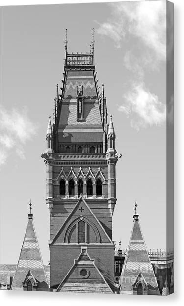 Harvard University Canvas Print - Memorial Hall At Harvard University by University Icons