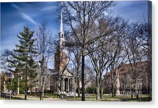 Harvard University Canvas Print - Harvard University Old Yard Church by Douglas Barnard
