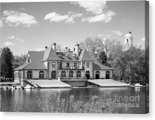 Harvard University Canvas Print - Weld Boat House At Harvard University by University Icons