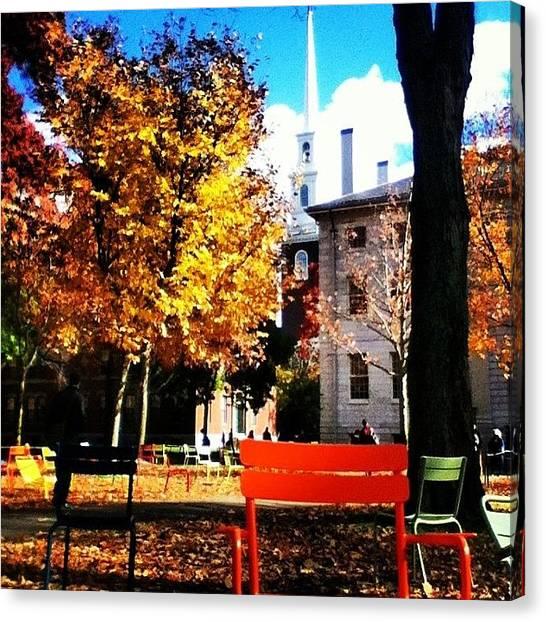 Harvard University Canvas Print - Harvard Yard by Eddie Obo