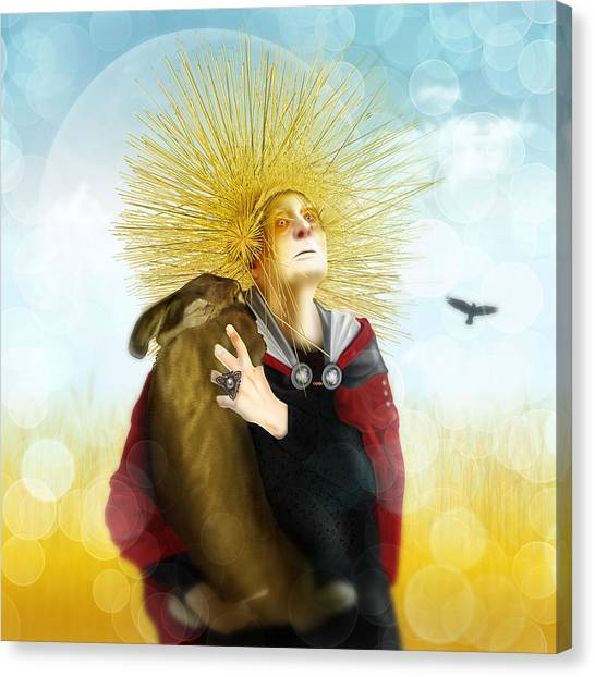 Harvest Crone Canvas Print