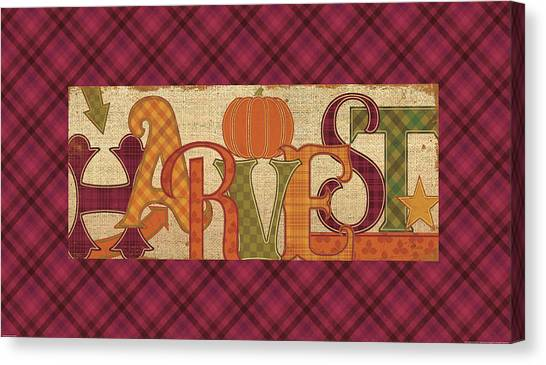 Thanksgiving Canvas Print - Harvest Glow II Fall Plaid by Pela Studio