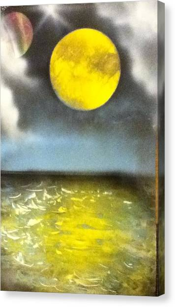 Harvest Moon Canvas Print by Angel Griffin