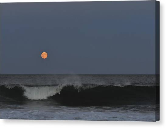 Harvest Moon Seaside Park Nj Canvas Print
