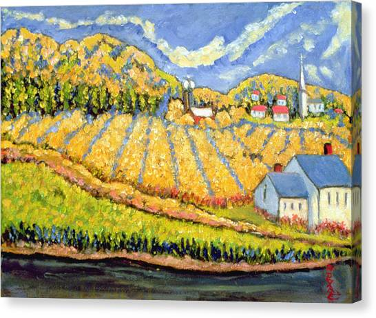Corn Field Canvas Print - Harvest St Germain Quebec by Patricia Eyre