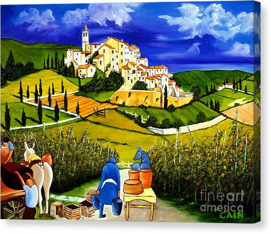 Harvest The Grapes Canvas Print