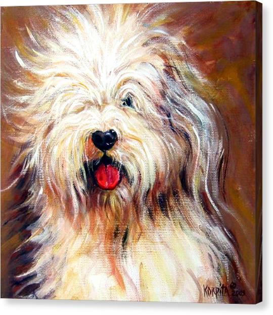 Harvey The Sheepdog Canvas Print