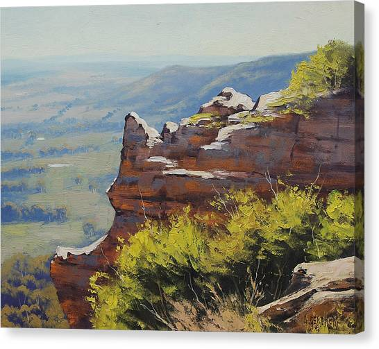 Neck Canvas Print - Hasson Wall Lithgow by Graham Gercken