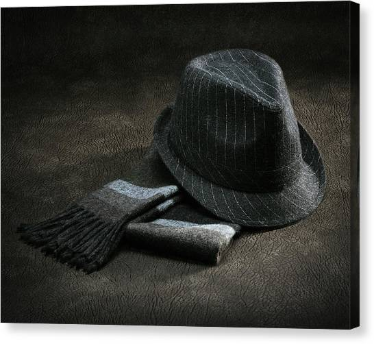 Hat And Scarf Canvas Print