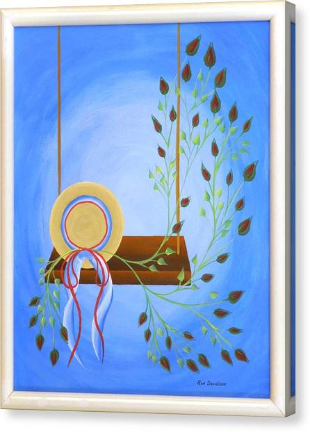 Hat On A Swing Canvas Print