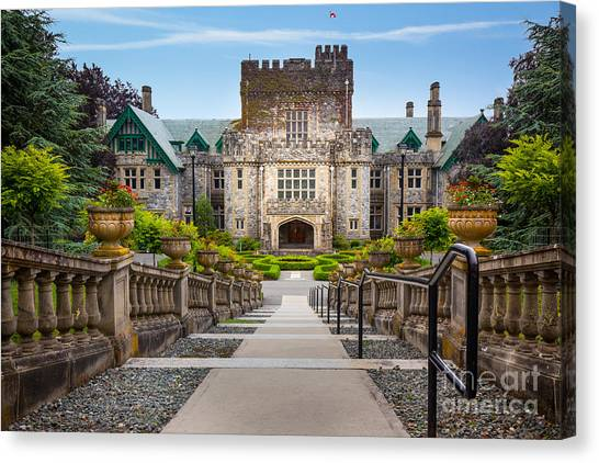 British Columbia Canvas Print - Hatley Castle by Inge Johnsson