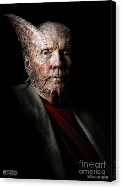 Hatred From Within Canvas Print