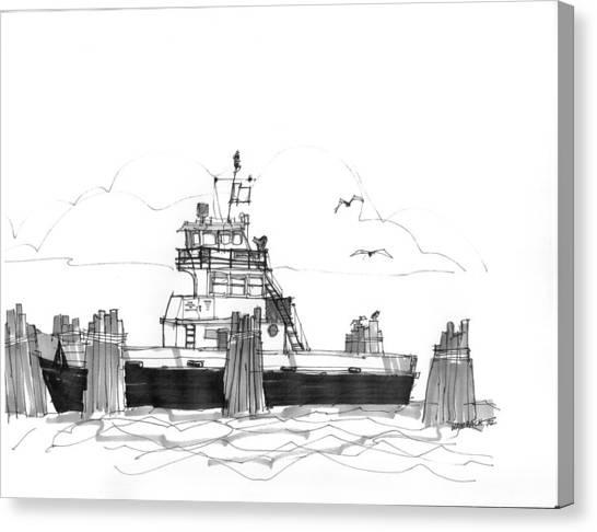 Hatteras Ferry Canvas Print