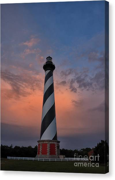 Hatteras Lighthouse Dawn Canvas Print