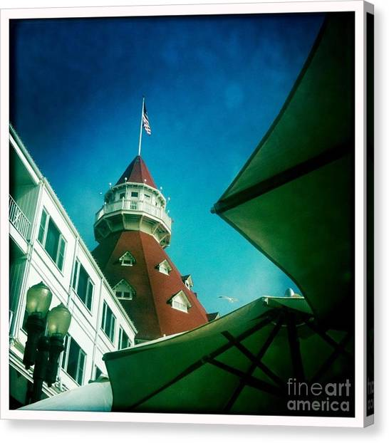 Haunted Hotel Del Canvas Print