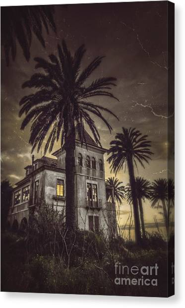 Old Houses Canvas Print - Haunted House by Carlos Caetano