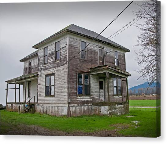 Haunted House Of Skagit County Canvas Print by Kent Sorensen