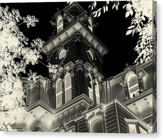 Sacramento State Canvas Print - Haunted Mansion by Garrett Nyland