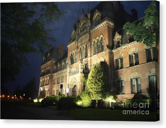 Abandoned School Canvas Print - Haunted Mansion II by John Telfer