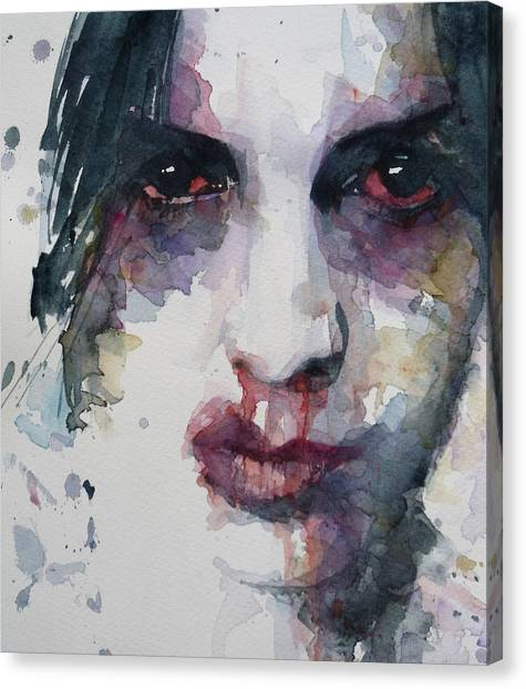 Blood Canvas Print - Haunted   by Paul Lovering