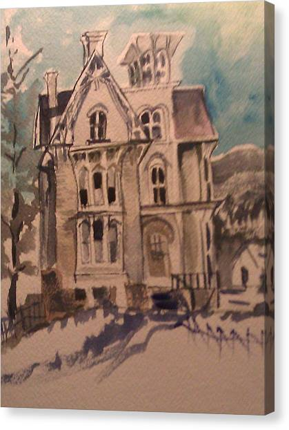 Haunted Canvas Print by Susan Mumma