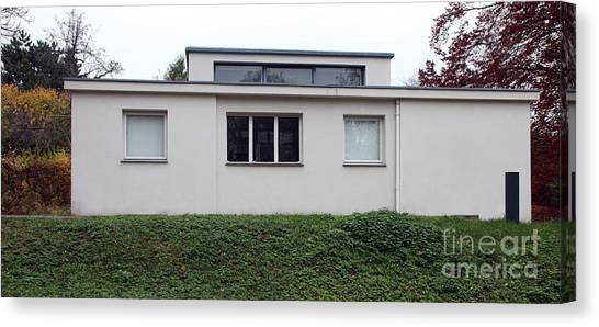 haus am horn first ever bauhaus house canvas print by ros drinkwater floor plan