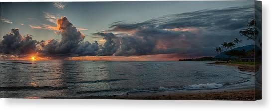 Hauula Sunrise Panorama Canvas Print