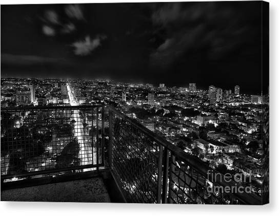 Havana At Night Canvas Print