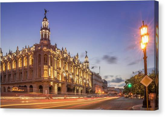Prado Canvas Print - Havana, Cuba, The National Theater by Buena Vista Images