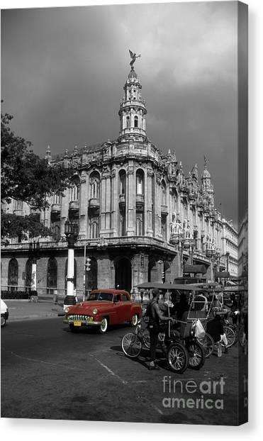 Prado Canvas Print - Havana Red by James Brunker