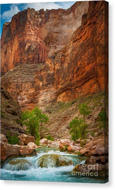 Grand Canyon Canvas Print - Havasu Creek Number 3 by Inge Johnsson