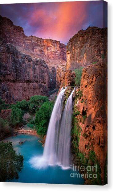 Waterfalls Canvas Print - Havasu Falls by Inge Johnsson