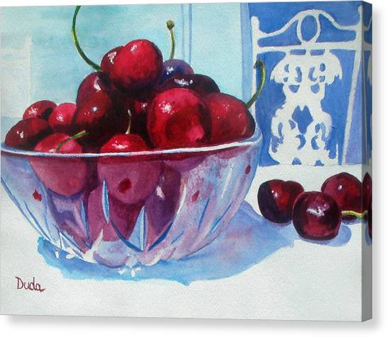 Have A Bing Cherry Go Ahead Try Em Canvas Print