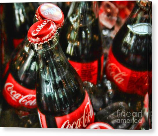 Have A Coke And Give A Smile By Diana Sainz Canvas Print