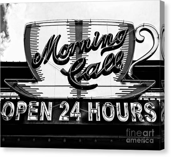 Have A Cup Of Coffee At Morning Call New Orleans Canvas Print