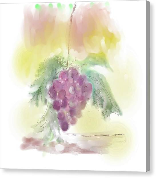 Have A Grape Day Canvas Print by Peggy Bosse