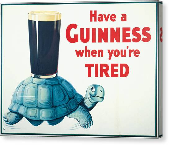 St. Patricks Day Canvas Print - Have A Guinness When You're Tired by Georgia Fowler