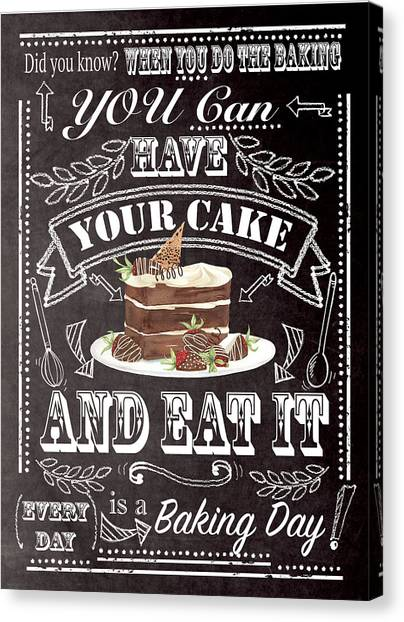 Cakes Canvas Print - Have Your Cake by P.s. Art Studios