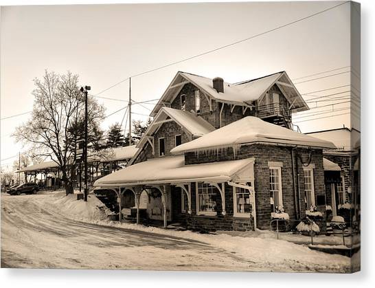 Haverford Canvas Print - Haverford Station by Bill Cannon