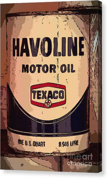 Havoline Motor Oil Can Canvas Print