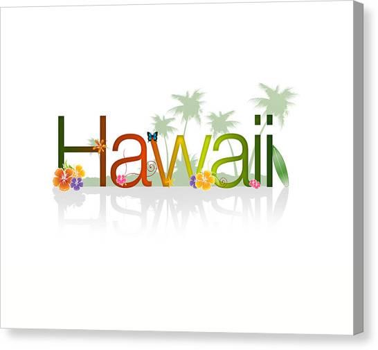 Tropical Beach Canvas Print - Hawaii by Aged Pixel