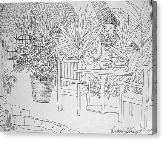 Hawaii Coloring Page Canvas Print