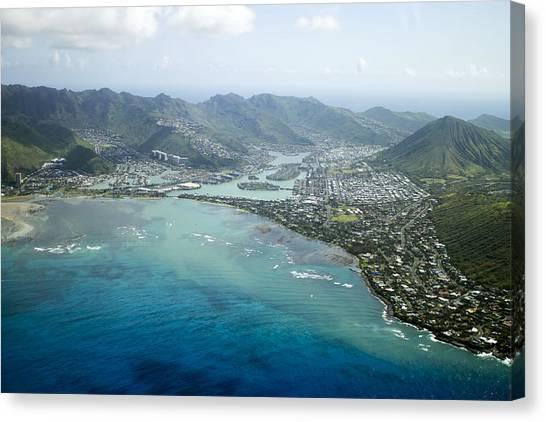Hawaii Kai Aerial Canvas Print
