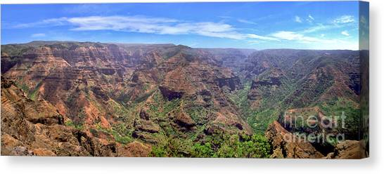 Hawaii Kauai Waimea Canyon Beautiful Panorama Canvas Print