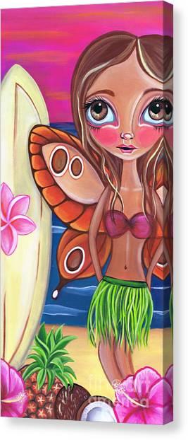 Big Eye Art Canvas Print - Hawaiian Fairy by Jaz Higgins